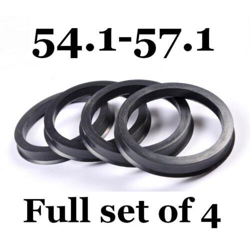 Spigot Rings 57.1mm Hub Centric Rings FULL SET OF 4 FOUR 54.1mm 57,1-54,1