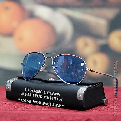 Classic Design Silver Metal Frame Aviator Sunglasses Sports Fashion Colors Lens