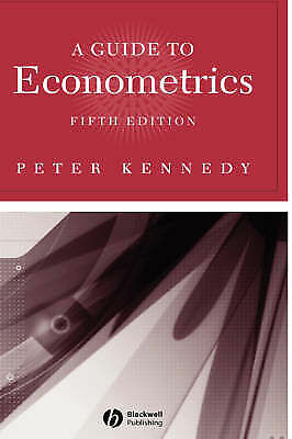 Guide to Econometrics by Peter Kennedy (Paperback, 2003)