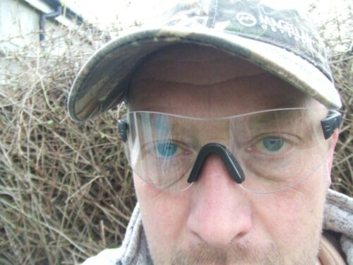 Clay /& Game Shooting Hunting Shatterproof Lens Lenses Safety Glasses EN166 F