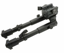 Tactical Rifle Bipod Button Lock 7.5 to 9 Adjustable QD Picatinny Rail Mount