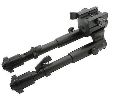 Tactical Rifle Bipod Button Lock 7.5 to 9 Adjustable QD Picatinny Rail Mount