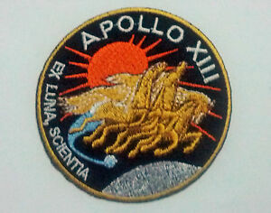APOLLO 13 nasa Airsoft vest Armor Paintball Hook Fastener embroidered Patch