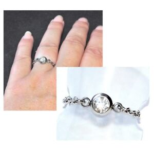 Bague-fine-chaine-chainette-acier-coul-argent-cristal-blanc-T-48-au-66-bijou