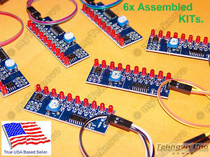 6x Led Light Chaser Follower Sequencer Scroller Assembled Kit Ne555 Cd4017 Usa Ebay