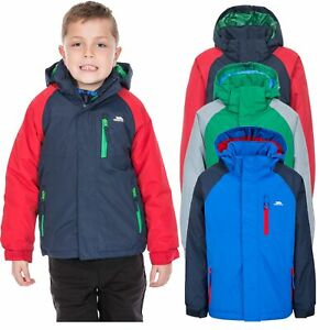 Trespass-Lomont-Boys-Waterproof-Jacket-Padded-in-Green-Red-amp-Blue