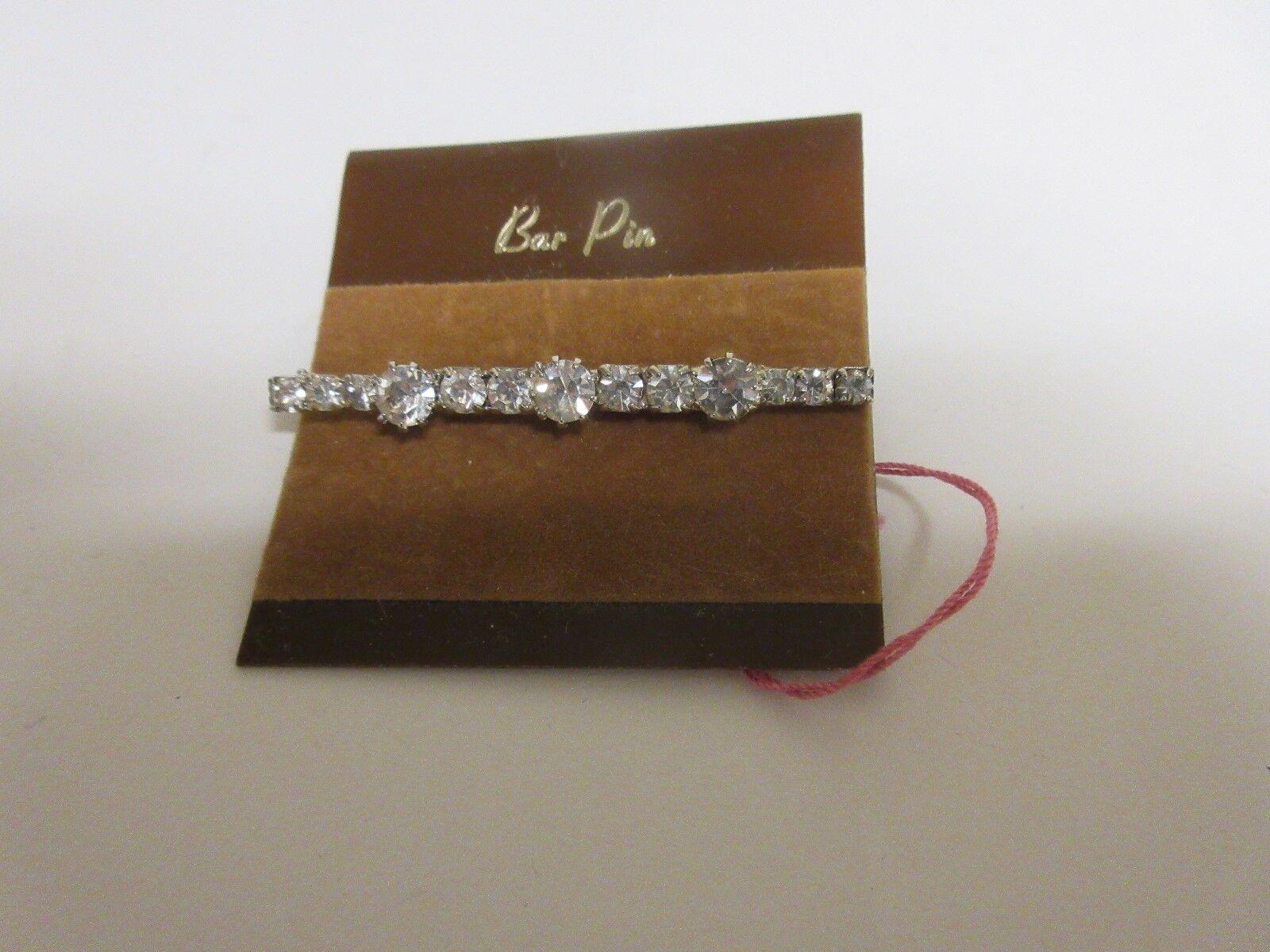 "Costume Jewelry , Bar Pin , 2 1/4"" Long"