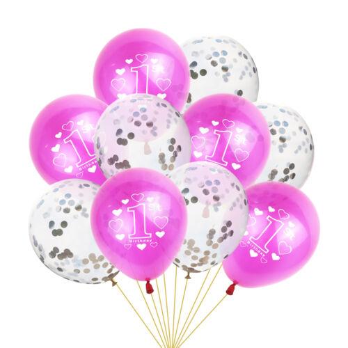 "10pcs 10/"" 1st Birthday Balloon Happy Birthday Party Decoration Latex Ballons"