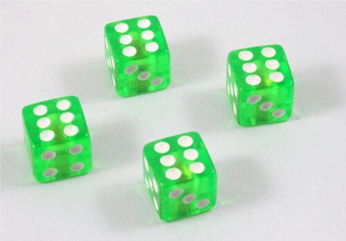 4x Bouchons De Valve Cube vert green dice Vanne Capuchon Cap voiture vélo moto voiture