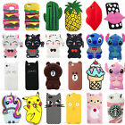 3D Cartoon Soft Silicone Rubber Cute Case Cover Back For Samsung Galaxy Phones