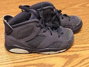 21e024968f31 Nike 645127-509 Air Jordan Retro 6 Purple Dynasty White Toddler Shoe ...