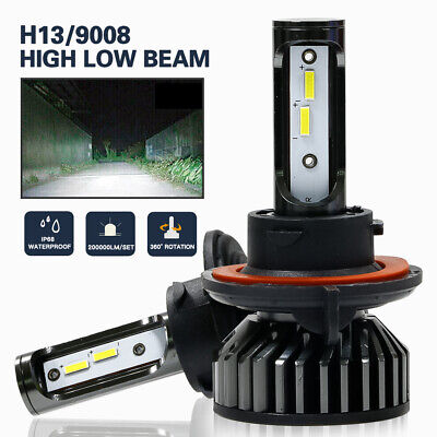 LED Headlight Protekz Kit H13 9008 6000K High Low for 2007-2011 Dodge NITRO
