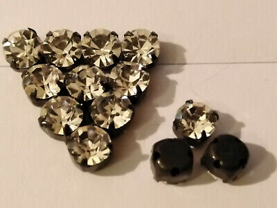 10 St Preciosa MC Chaton Strass Crystal//Black SS40 Glitzersteine Art.7192-7081