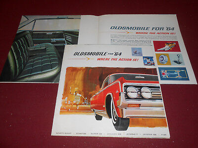 1965 Oldsmobile BIG Prestige Brochure 442 Starfire F85 Original