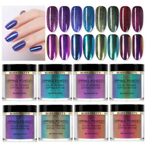 BORN-PRETTY-10ml-Chameleon-Dipping-Powder-System-Liquid-Pro-Nail-Art-NO-UV-Kit