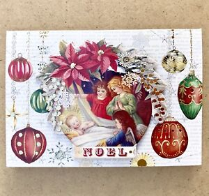 image is loading punch studio 10 christmas cards jesus vintage angels