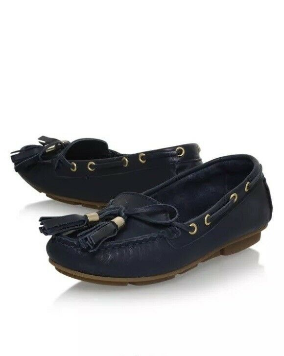 Carvela Navy Line Loafer Size 4