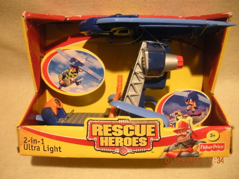 Rescue Heroes 2-in-1 Ultra Light Rescue Vehicle Vehicle Vehicle Factory Sealed  fb4f75