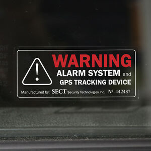 Details About 4x Car Alarm Warning Stickers For Cars Car Sticker With Gps Tracking Outdoor Show Original Title