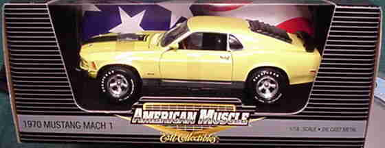 Ford Mustang 1970 Mach 1 jaune 1 18 ertl american muscle 33751