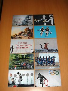BANKSY-ART-PRINTS-SET-OF-TEN-POSTCARD-SIZE-PHOTO-PRINTS-6X4-034-NOT-CANVAS