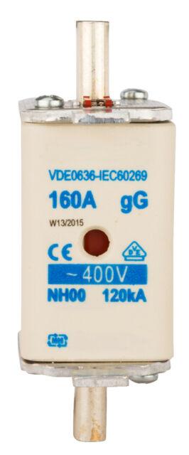 HRC fuse SCHRACK, size 00, gG/gL 160A, 400V AC - ISP00160
