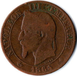 1864-5-Centimes-Napoleon-III-France-WT3414