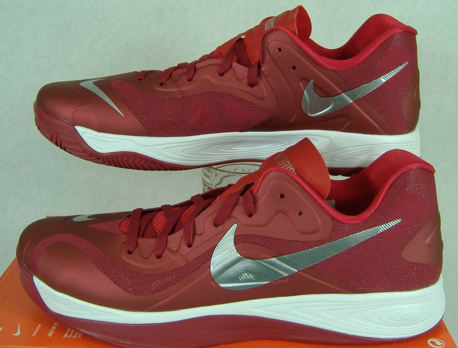 New Mens 17.5 NIKE Hyperfuse Low TB Varsity Crimson shoes  616620-603