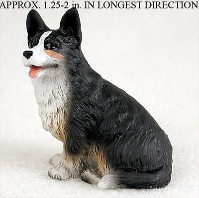 Welsh Corgi Cardigan Mini Resin Dog Figurine Statue Hand Painted