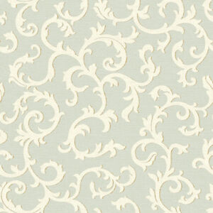 Details About Wallpaper System Solution Textured Vines Light Green Cream Gray Luxury Fine