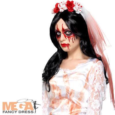 Sangue A Goccia Velo Donna Costume Halloween Zombie Sposa Costume Accessorio-mostra Il Titolo Originale Beneficiale Per Lo Sperma