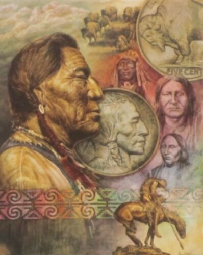 5 Cent Piece By David Behrens Native American Print