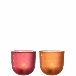 Leonardo-Tischlicht-Firenze-1-Stk-sort-rot-oder-orange-Teelichthalter-Windlicht
