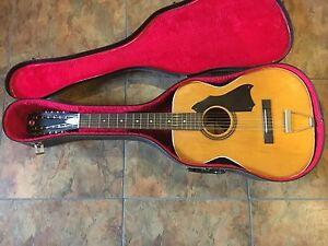 harmony stella 12 string acoustic guitar vintage model 319 w case usa ebay. Black Bedroom Furniture Sets. Home Design Ideas