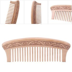 Wooden-Wide-Tooth-Comb-Natural-Peach-Wood-Massage-Beauty-Hair-Care-new