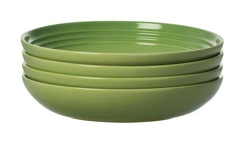 Nouveau Le Creuset 4 pieces Set Assiettes à pates Palm Soupe bol vert 8.5  8 disponible