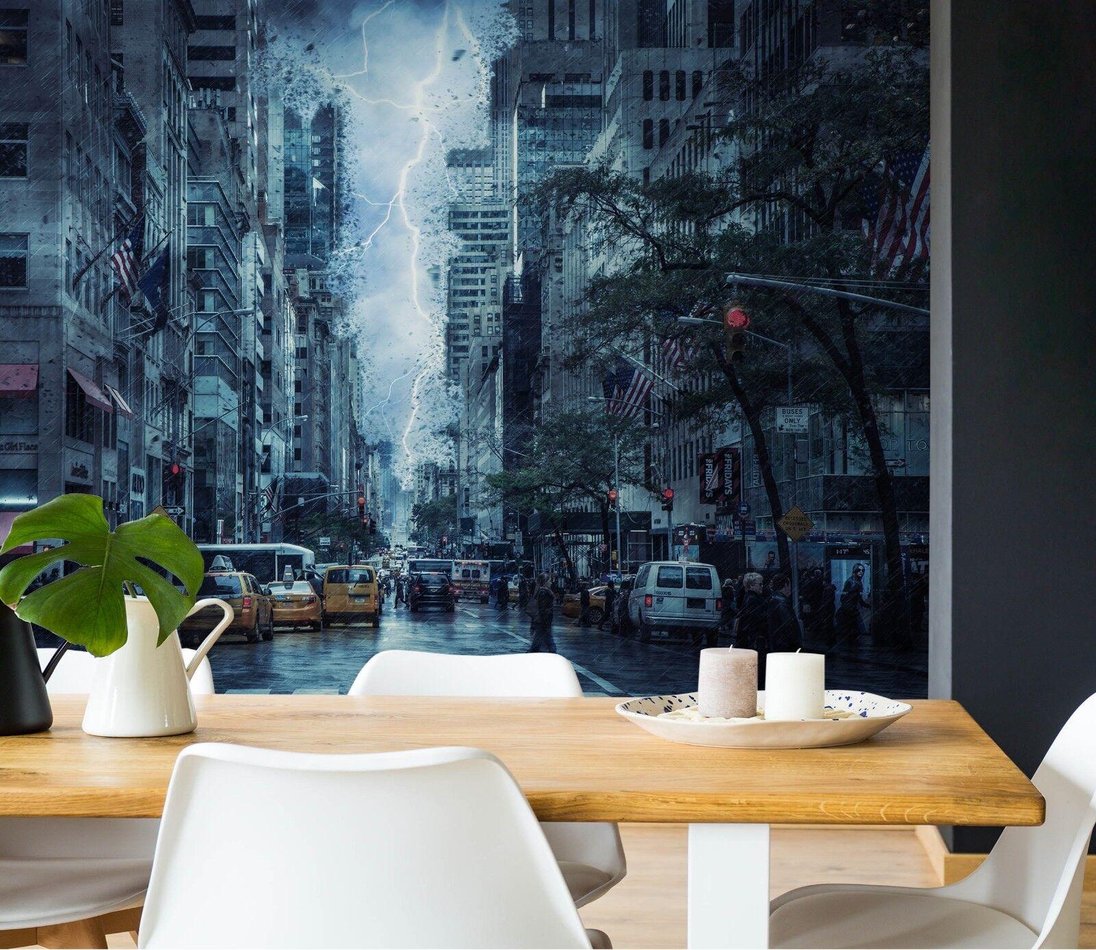 3D Blitz Stadt  975 Tapete Wandgemälde Tapete Tapeten Bild Familie DE Sidney | Neuer Stil  | Professionelles Design  |