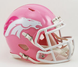 DENVER-BRONCOS-NFL-Riddell-SPEED-Mini-Football-Helmet-BCA-BREAST-CANCER-PINK