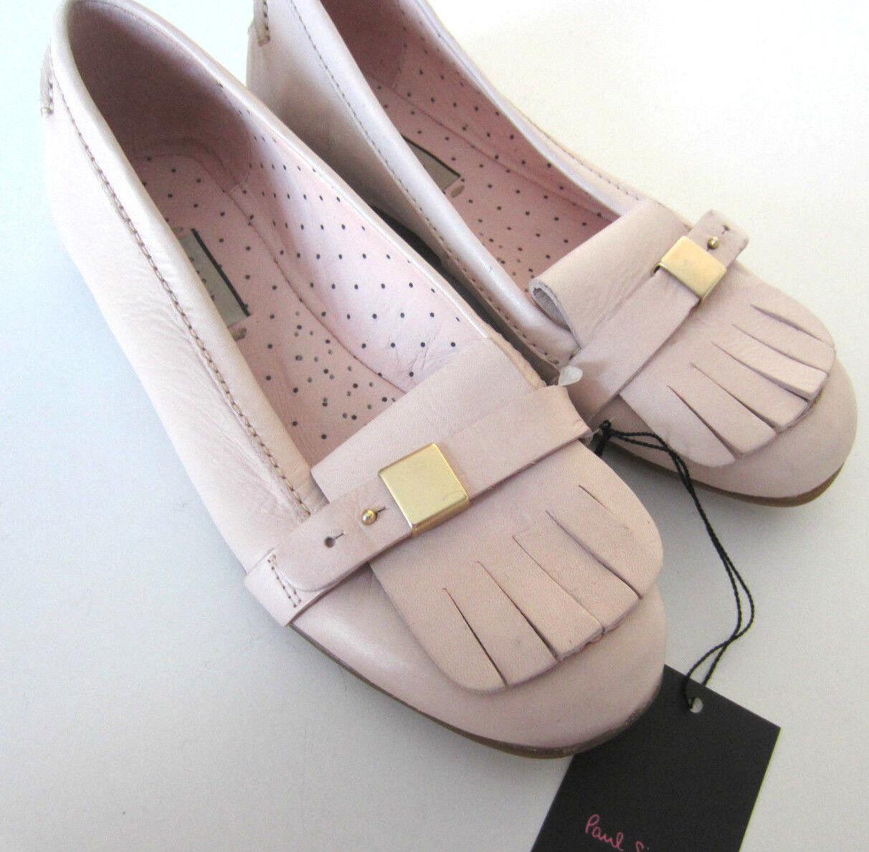 Paul Smith BABY PINK Damenschuhe Loafers LOVE HEART Loafers UK2.5 EU35