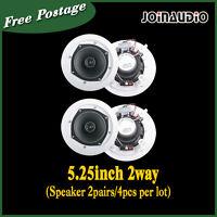 2 Pairs 4x20w High Quality 5.25 Ceiling Pa Speaker 100v(4pcs)