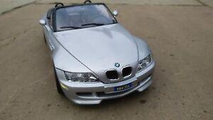 BBURAGO-BMW-Z3-M-3-2-Roadster-1-18-96-SILVER-CON-SINGOLE-NERE-interne-RARO