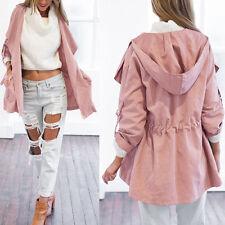 Hot Women Warm Fashion Hooded Long Coat Jacket Trench Windbreaker Parka Outwear