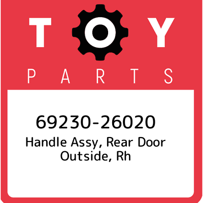 Genuine Toyota 69210-52020-J5 Door Handle Assembly