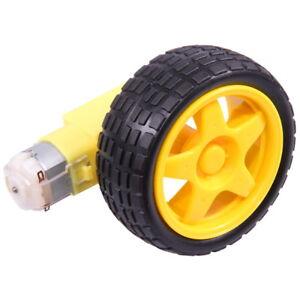 Smart-Car-Auto-Rad-Reifen-Tire-Wheel-DC-3-6V-Motor-Gear-fur-Arduino-Robot