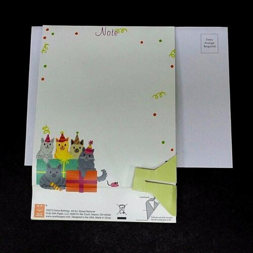3 Of 7 Feline Birthday Greeting Card 3D Pop Up With Sound Effects Happy