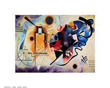 Yellow - Red - Blue. Wassily Kandinsky. Art Print Poster. 16 X 20""