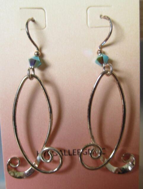Jody Coyote Earrings JC0292 new hypoallergenic silver moon