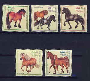ALEMANIA-RFA-WEST-GERMANY-1997-MNH-SC-B813-B817-Horses