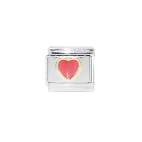 Pink heart Italian Charm fits 9mm classic Italian charm bracelets