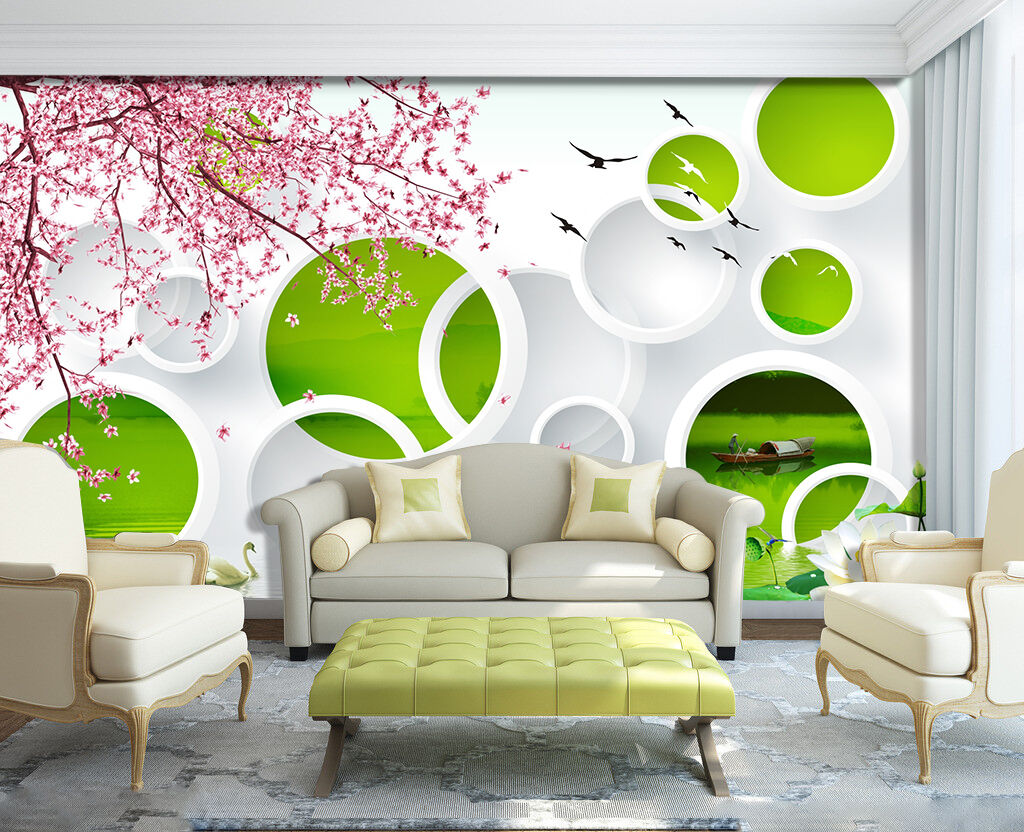 3D Ciliegio 098 Parete Murale Foto Carta da parati immagine sfondo muro stampa
